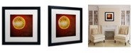 "Trademark Global Nicole Dietz 'Moon on Red' Matted Framed Art - 16"" x 16"""
