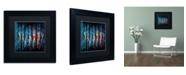 "Trademark Global Ricardo Tapia 'Miami' Matted Framed Art - 11"" x 11"""
