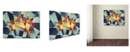 "Trademark Global Michael Tompsett 'Australia Geometric Retro Map' Canvas Art - 14"" x 19"""