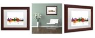 """Trademark Global Michael Tompsett 'Sacramento California Skyline' Matted Framed Art - 11"""" x 14"""""""