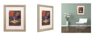 "Trademark Global David Lloyd Glover 'The Old Sundial' Matted Framed Art - 16"" x 20"""