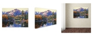 "Trademark Global David Lloyd Glover 'Painter's Lake' Canvas Art - 14"" x 19"""