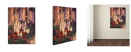 "Trademark Global David Lloyd Glover 'English Cottage Garden' Canvas Art - 24"" x 32"""