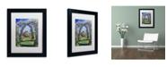 "Trademark Global David Lloyd Glover 'English Rose Arbor' Matted Framed Art - 11"" x 14"""