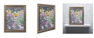 "Trademark Global David Lloyd Glover 'Garden Path of Cosmos' Ornate Framed Art - 11"" x 14"""
