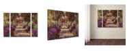 "Trademark Global Claude Monet 'A Pathway in Monet's Garden' Multi Panel Art Set Small - 32"" x 24"""