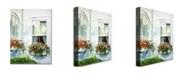 "Trademark Global David Lloyd Glover 'Window Boxes' Canvas Art - 47"" x 35"""