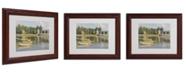 """Trademark Global Claude Monet 'The Bridge at Argenteuil' Matted Framed Art - 14"""" x 11"""""""