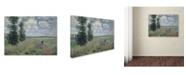 "Trademark Global Claude Monet 'The Poppy Field' Canvas Art - 14"" x 19"""