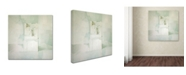 """Trademark Global Daniel Cacouault 'White' Canvas Art - 35"""" x 35"""""""