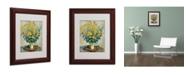 """Trademark Global Claude Monet 'Jerusalem Artichoke Flowers' Matted Framed Art - 14"""" x 11"""""""