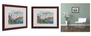 "Trademark Global Pierre Auguste Renoir 'Oarsmen at Chatou 1879' Matted Framed Art - 20"" x 16"""