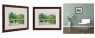 "Trademark Global Childe Hassam 'Central Park' Matted Framed Art - 20"" x 16"""