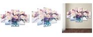 "Trademark Global David Lloyd Glover 'Roses in Glass' Multi Panel Canvas Art Set - 40"" x 58"""