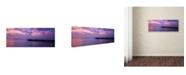 "Trademark Global David Evans 'Arrivals Meeru Island' Canvas Art - 24"" x 8"""