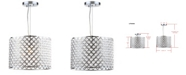 """Safavieh Silva Beaded 12""""D Adjustable Diamond Pendant"""