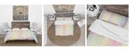 Design Art Designart 'Textured Abstract Grunge Background' Country Duvet Cover Set - King