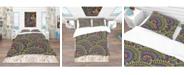Design Art Designart 'Colorful Ethnicity Round Ornament' Bohemian and Eclectic Duvet Cover Set - King