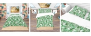 Design Art Designart 'Leaves and Brunches Of Tropical Plants and Trees' Tropical Duvet Cover Set - Queen