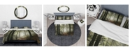 Design Art Designart 'Light In Dense Fall Forest With Fog' Traditional Duvet Cover Set - Twin