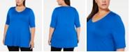 Alfani Plus Size V-Neck Swing Tunic, Created for Macy's