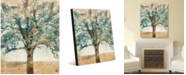 """Creative Gallery Neutral Radiant Tree Abstract Portrait Metal Wall Art Print - 16"""" x 20"""""""