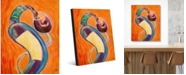 """Creative Gallery Twisty Pinot Noir Colorful Wine Abstract Portrait Metal Wall Art Print - 16"""" x 20"""""""