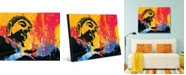 "Creative Gallery Color Splash Buddha Abstract Portrait Metal Wall Art Print - 20"" x 24"""
