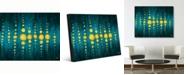 "Creative Gallery Lantern on The Lake Abstract Portrait Metal Wall Art Print - 24"" x 36"""