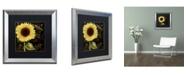 """Trademark Global Color Bakery 'Sunflower Salon I' Matted Framed Art - 16"""" x 16"""""""