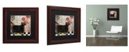 "Trademark Global Color Bakery 'Baa Baa Black Sheep' Matted Framed Art - 11"" x 11"""