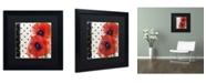 "Trademark Global Color Bakery 'Scarlet Poppies I' Matted Framed Art - 16"" x 16"""
