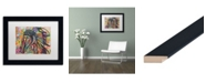 "Trademark Global Dean Russo 'Tiva' Matted Framed Art - 11"" x 14"""