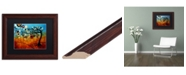 "Trademark Global Natasha Wescoat '144' Matted Framed Art - 11"" x 14"""