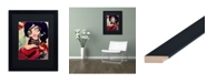 "Trademark Global Natasha Wescoat 'Mermaid Pirate' Matted Framed Art - 16"" x 20"""