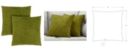 "Monarch Specialties 18"" x 18"" Brushed Velvet Pillow, Set Of 2"