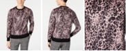 Paisley & Gray Men's Slim-Fit Pink Leopard Sweater