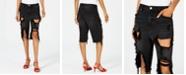 Material Girl Juniors' Ripped Bermuda Shorts, Created for Macy's