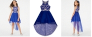 Rare Editions Big Girls Embroidered High-Low Dress