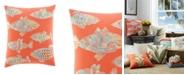 Tommy Bahama Home Tommy Bahama Batic Fish Sunset Orange Throw Pillow