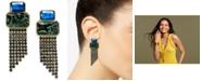 INC International Concepts I.N.C. Gold-Tone Stone & Crystal Fringe Drop Earrings, Created for Macy's