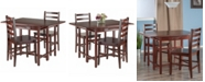 Winsome Wood Taylor 3-Piece Set Drop Leaf Table with Ladder Back Chair