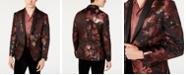 INC International Concepts INC Men's Slim-Fit Rust Jacquard Floral Blazer
