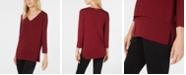 Michael Kors Layered-Look Top, Regular & Petite Sizes