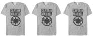 Marvel Men's Captain Marvel Painted Distressed Logo Short Sleeve T-Shirt