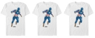 Marvel Men's Avengers Endgame Watercolor Painted Captain America Short Sleeve T-Shirt