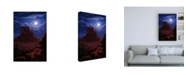 "Trademark Global R W Hedge Navaho Moon Canvas Art - 15.5"" x 21"""