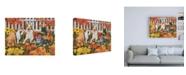 "Trademark Global William Vanderdasson Puppies and Kittens Autumn Theme Canvas Art - 36.5"" x 48"""