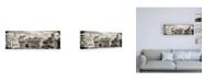 "Trademark Global Philippe Hugonnard Dolce Vita Rome 2 View of Rome IX Canvas Art - 15.5"" x 21"""