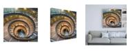 "Trademark Global Philippe Hugonnard Dolce Vita Rome 3 Spiral Staircase Canvas Art - 15.5"" x 21"""